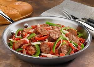 johnsonville italian sausage peppers onions skillet johnsonville