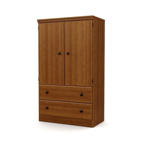 armoire with drawers south shore 2 door armoire with drawers cherry