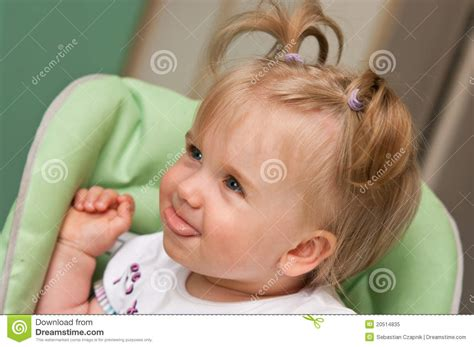 Cute Young Baby Girl Royalty Free Stock Photo Image