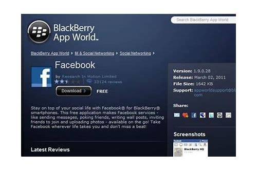 download facebook free for bb
