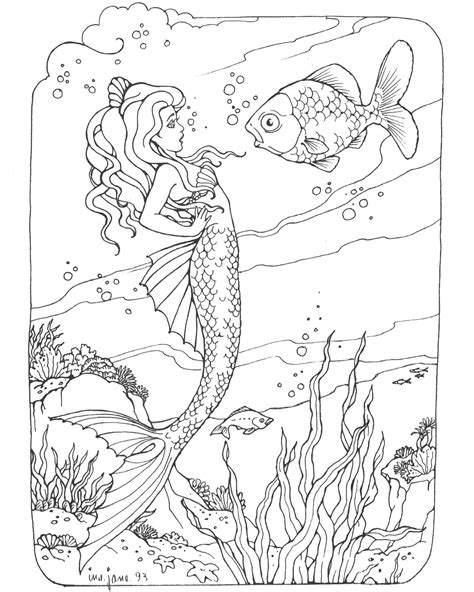 Barbie Mermaid Coloring Pages Coloringsuitecom
