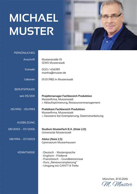 Lebenslauf Muster 2016 Kostenlos by Lebenslauf Vorlage 2016 Kostenlos