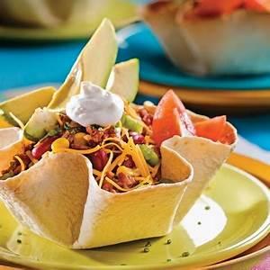 Recette Tacos Mexicain : salade mexicaine en fleurs de tortillas recettes ~ Farleysfitness.com Idées de Décoration