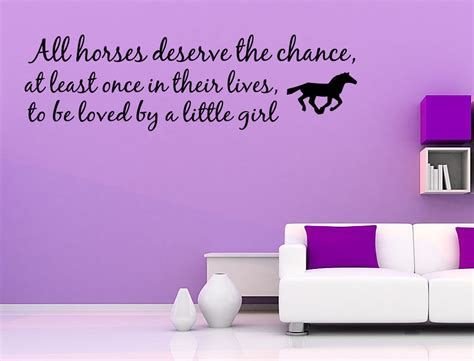 Love Horse Girls Western Vinyl Wall Quote Decal Home Decor