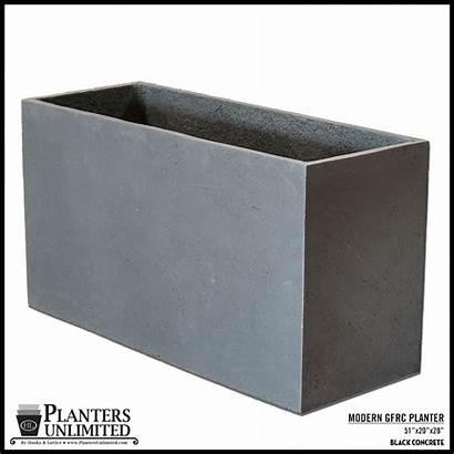Planters Rectangular Planter Gfrc Stone Modern Concrete