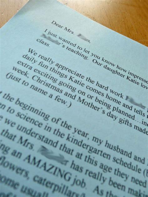 teacherappreciation write  letter   principal
