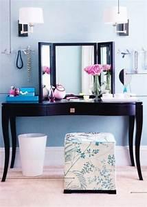 Coiffeuse Moderne Avec Miroir : le meuble coiffeuse se d voile en 19 exemples ~ Farleysfitness.com Idées de Décoration