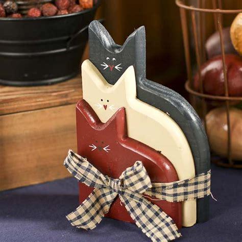 Wedding Decorations Catalogs Free by Primitive Americana Wood Cats Grouping Americana Decor