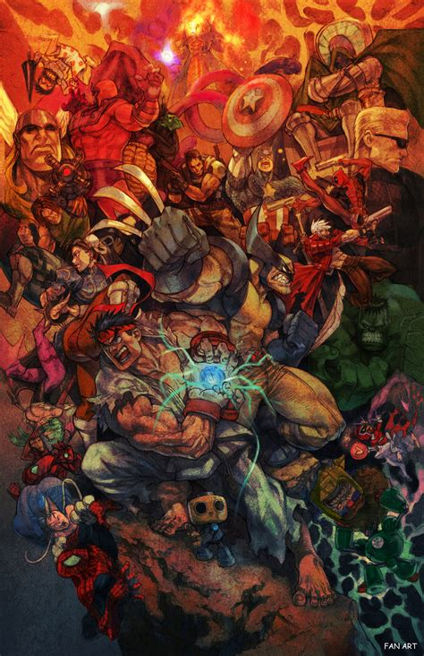 Marvel Vs Copcom Marvel Vs Capcom 3 Fan Art Countdown
