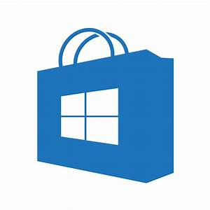 Windows Store icon (transparent/blue) (homemade) by ...