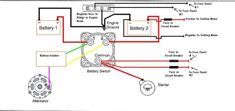 Boat Battery Isolator Wiring by Marine Battery Isolator Wiring Diagram For With Switch