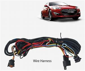 Wiring Harness Led Fog Lamp Light Kit Only For Hyundai