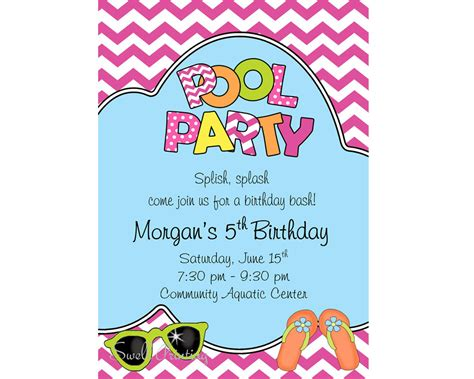 Fantastic Free Clip Art Pool Party Images For Newest