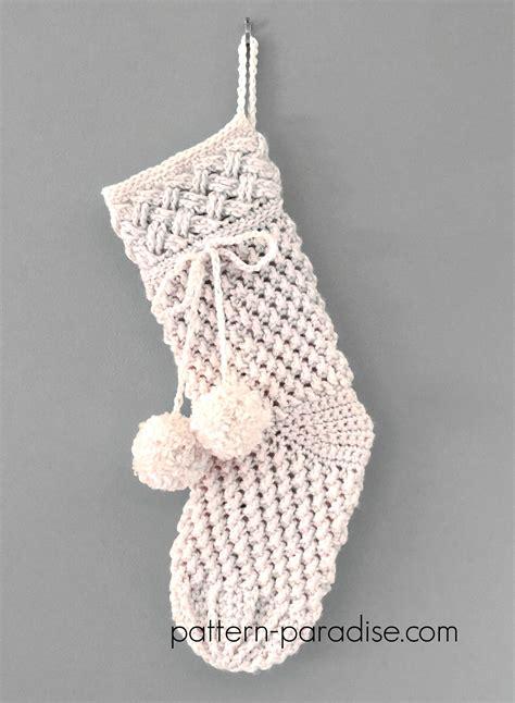 crochet pattern ivory snow stocking pattern paradise