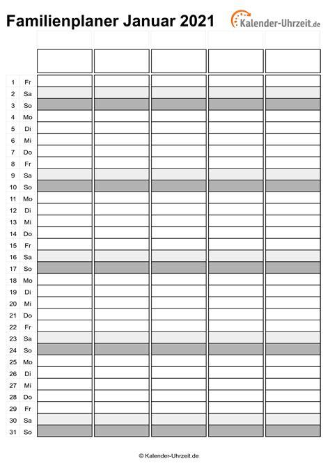 Kostenloser monatskalender 2021 zum ausdrucken! EXCEL-KALENDER 2021 - KOSTENLOS