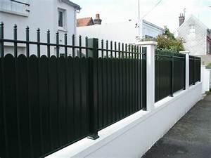 Cloture Sur Muret : pose de cl ture en aluminium type fer forg portails et ~ Carolinahurricanesstore.com Idées de Décoration