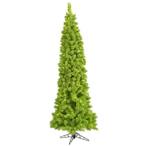 9 foot flocked lime pencil pine christmas tree lime