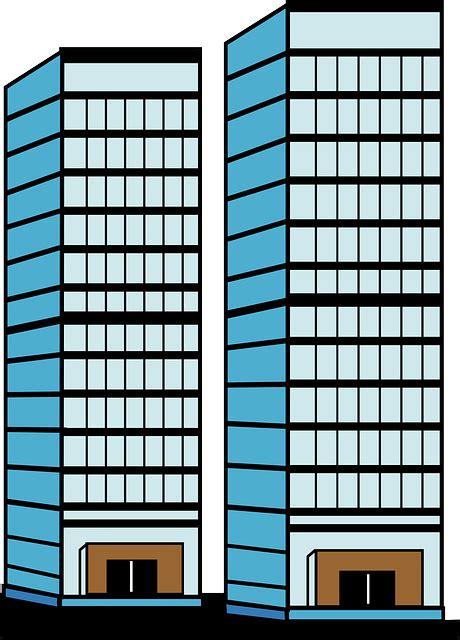 Kostenlose Vektorgrafik Wolkenkratzer, Höhe, Tür, Fenster