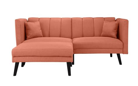 Mid Sleeper With Sofa Bed by Mid Century Modern Fabric Futon Sofa Bed Sleeper Orange