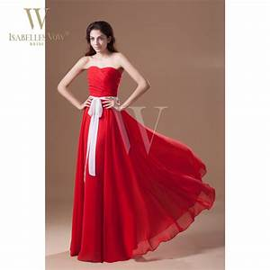 Summer style bridesmaid dresses red sweetheart floor for Petite dresses for wedding party