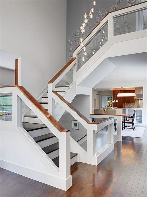 Stair Banister Glass by Best 25 Glass Stair Railing Ideas On