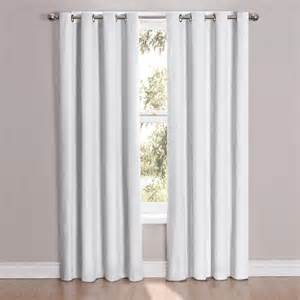 2 white panel microfiber room darkening blackout grommet