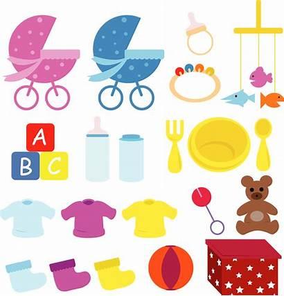 Items Things Clipart Babies Care Preparing Born