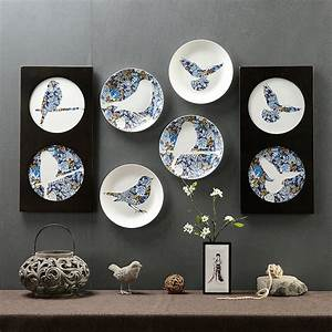 Popular decorative plates birds buy cheap