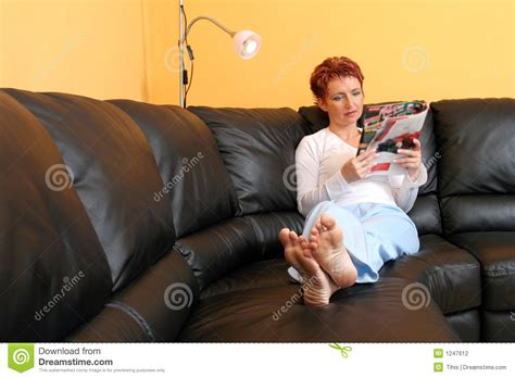 relaxed woman stock photography image