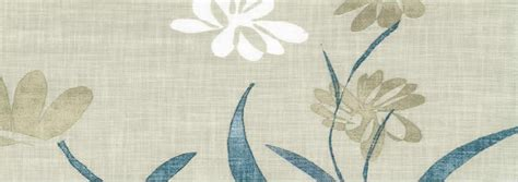 Blackout Curtain Lining For Eyelet Curtains by Natural Leaves Amp Flowers Patterned Beige Cream Amp Blue