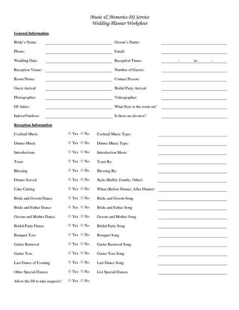 wedding planning worksheets wonderful wedding planning on
