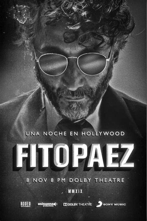 """Listen and download all songs by fito páez. Fito Paez tendrá """"Una noche en Hollywood"""""""