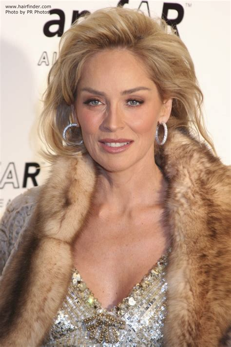 Sharon Stone   Hairstyle for those who are growing their