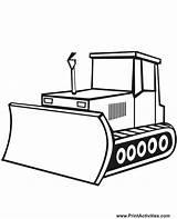 Shovel Bulldozer Coloring Mecanic Printable Transportation Kb sketch template
