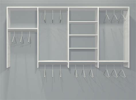 four section wardrobe closet organizer kit 6 9 5ft