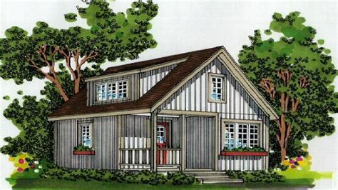 small house plans small cabin plans  loft  porch