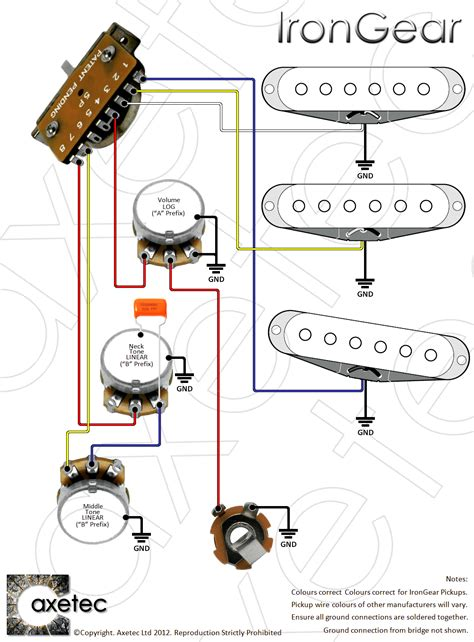 5 Way Fender Switch Wiring Diagram by 5 Way Switch Wiring Diagram Webtor Me