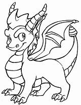 Coloring Dragon Pages Popular sketch template