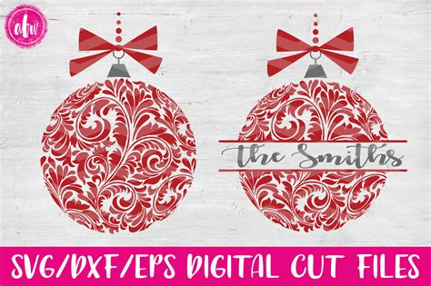 Nov 20, 2020 · any supplies used may be given to me free of charge, however, all projects and opinions are our own. Free Svg Christmas Ornament Bundle Monogram Round File For ...