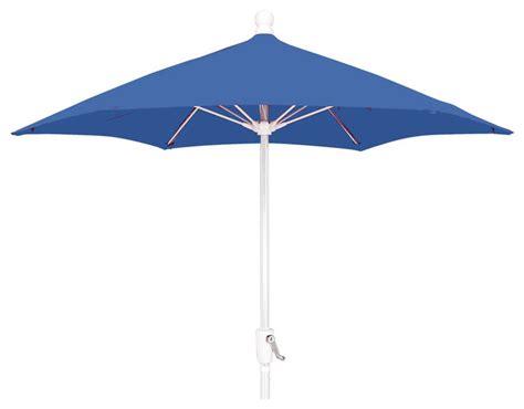 7 5 foot hexagonal pacific blue patio umbrella outdoor