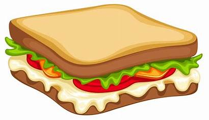 Sandwich Clipart Vector Sandwiches Fast Restaurant Dibujo