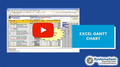 excel gantt chart project plan youtube