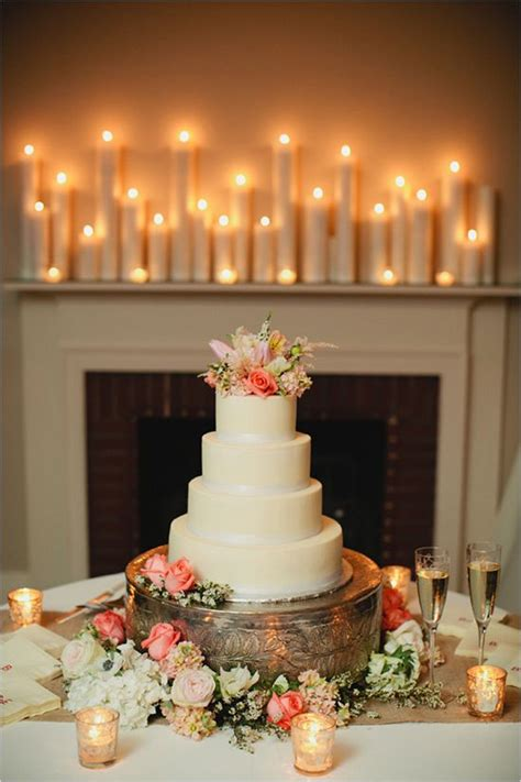 mind blowingly romantic wedding ideas  candles
