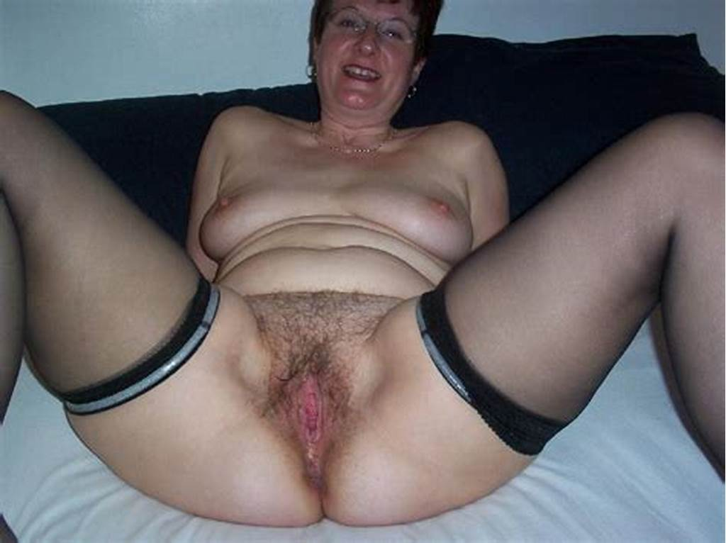 #Mature #Legs #In #Stockings #And #Hairy #Pussy
