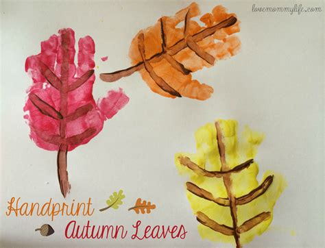 fall projects how to make leaves from handprints handprints and footprints pinterest leaves craft and