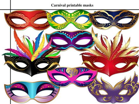 carnival masks template kids unique 9 carnival printable masks by holidaypartystar on
