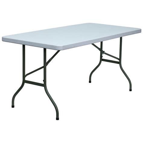 5ft folding table target 5 foot blow molded plastic folding table banquet king