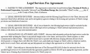 example document for legal services fee agreement With example of a legal agreement document