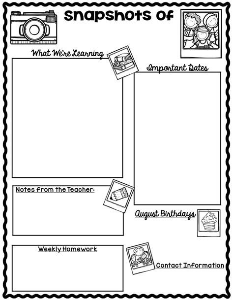 Free Classroom Newsletter Templates by The Teaching Oasis Monthly Calendars And Newsletter