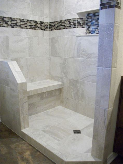 white shower floor tile white porcelain tile shower n koehn tile el co tx